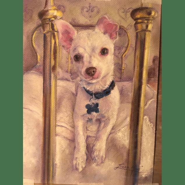 Pintura de Perro o Gato - Pastel