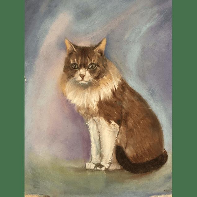 Cuadro gato - Título: Buena Amiga