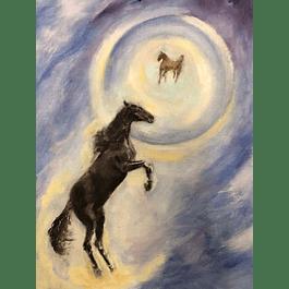 Cuadro caballo - Título