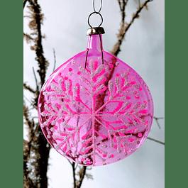 Esfera copo de nieve rosa
