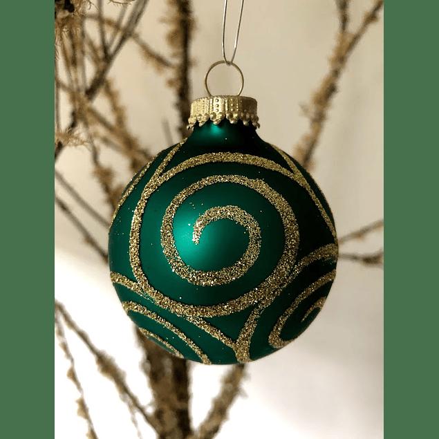 Esfera verde con dorado