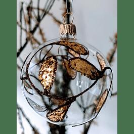 Esfera transparente con dorado