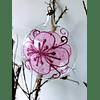 Esfera rosa claro transparente