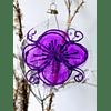 Esfera plana morada con flor