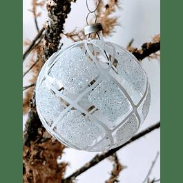 Esfera transparente con blanco