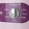 LAVADORA REDONDA 15 kg. BLANCO CON ROSA ALF-1551ER