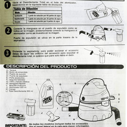 ASPIRADORA SANITIZANTE KOBLENZ WD-390S