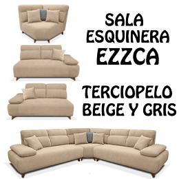 SALA ESQUINERA COLOR BEIGE EZZCA