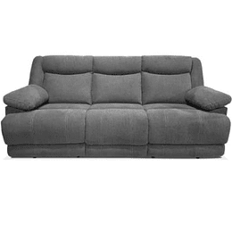 SOFA CON 2 RECLINABLES COLOR GRIS OXFORD BURGOS