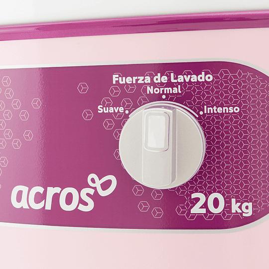 LAVADORA REDONDA 20 kg. BLANCO CON ROSA ALF-2053R