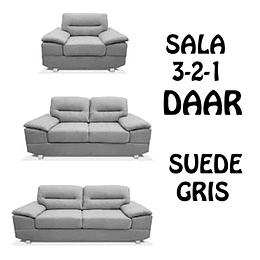 SALA 3-2-1 COLOR GRIS DAAR