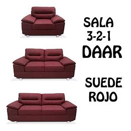 SALA 3-2-1 COLOR ROJO DAAR