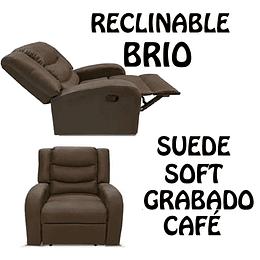 SILLON CON RECLINABLE COLOR CAFE BRIO