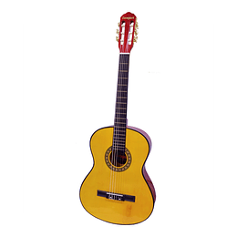 "GUITARRA 39"" CON FUNDA LIGTH ORANGE"