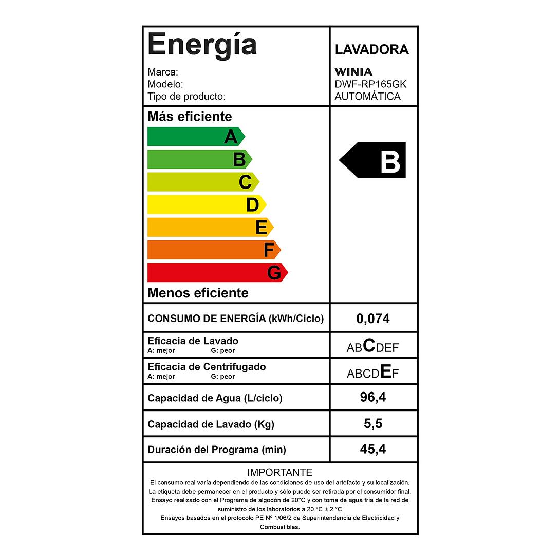 LAVADORA AUTOMATICA 16 KG SILVER DWF-RP165GK