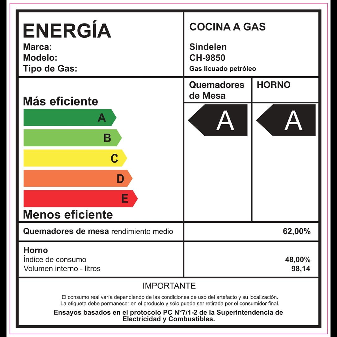 COCINA A GAS 6Q CH-9850NG