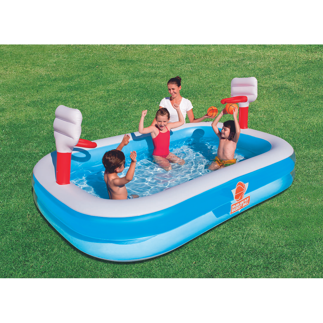 PISCINA INFLABLE BASKETBALL 251x168x102 54122