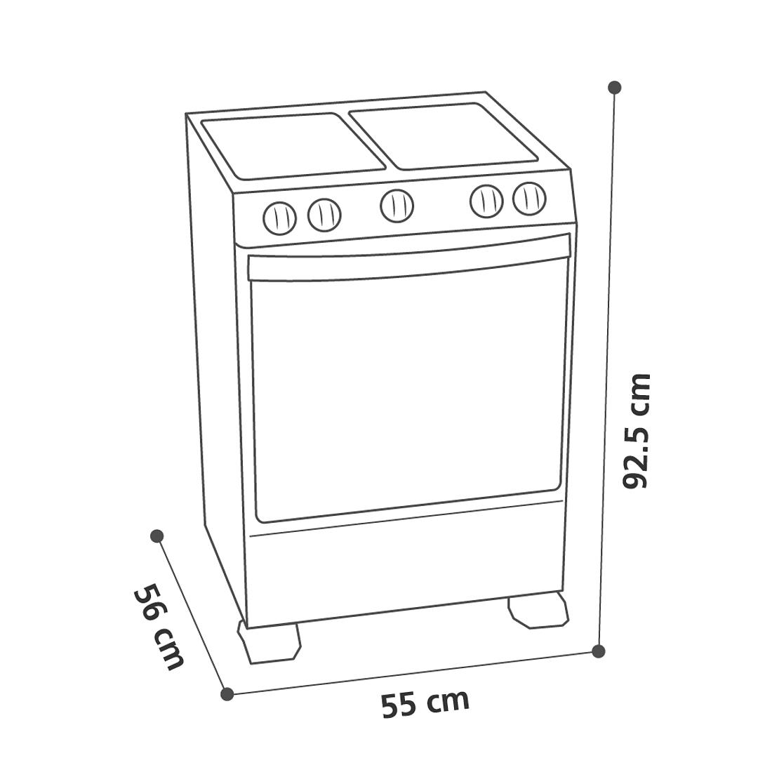COCINAS A GAS 4Q MABE CMC5515GCH-2
