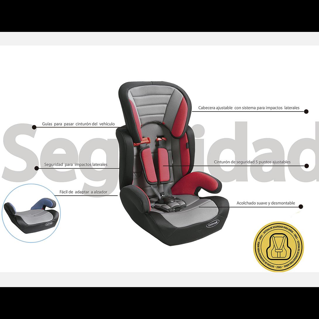 SILLA DE AUTO BUTACA TAURUS ROJO BEBESIT 8280