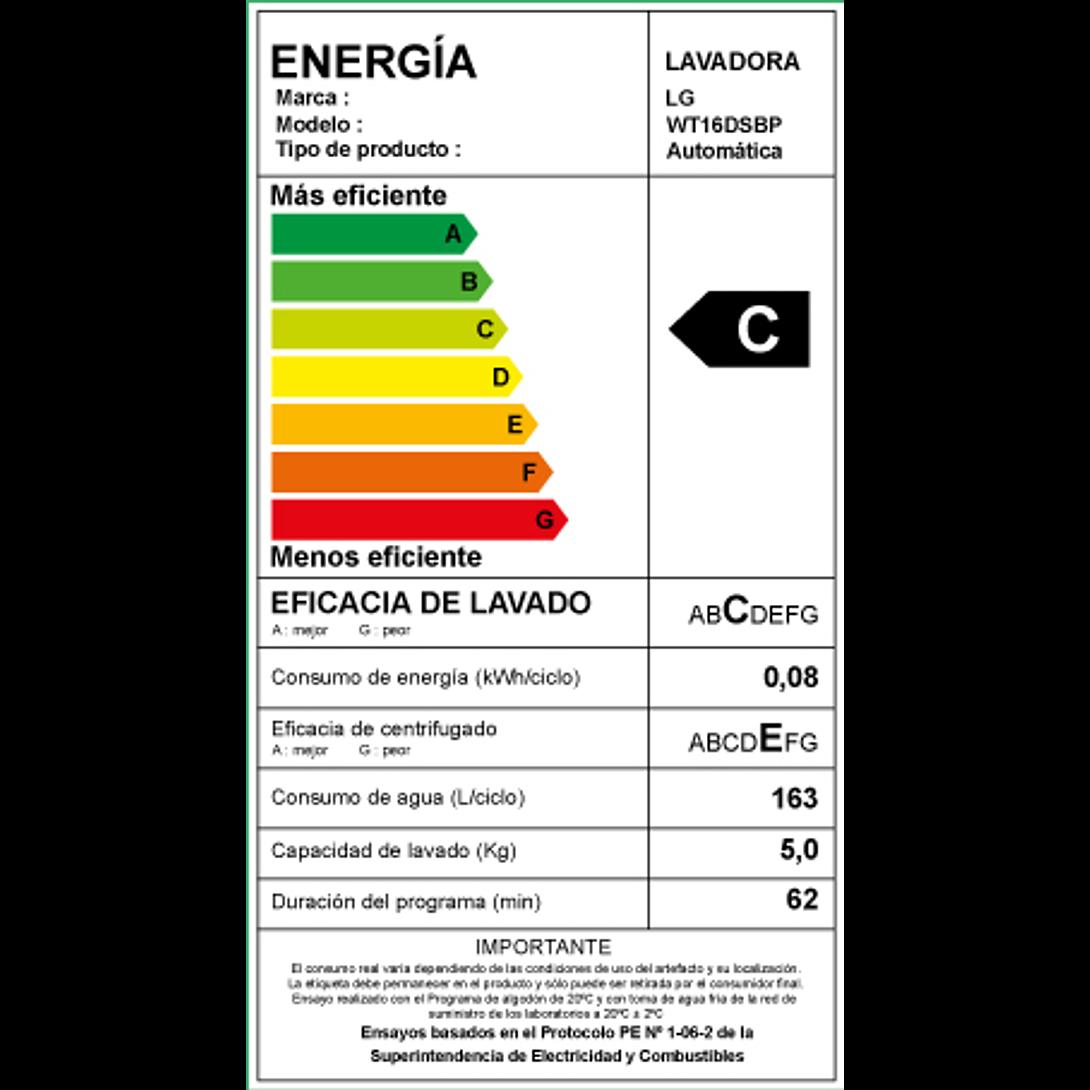 LAVADORA AUTOMATICA 16 KG WT16DSBP.ASFPECL LG