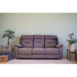 SOFA 3 CUERPOS RECLINABLE CAFE YB901 M&H