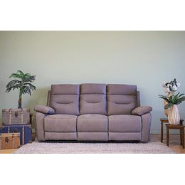 SOFA 3 CUERPOS RECLINABLE BEIGE YB901 M&H