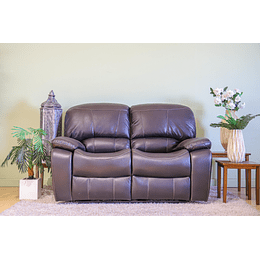SOFA 2 CUERPOS RECLINABLE CAFE SIERRA-B M&H