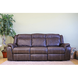 SOFA 3 CUERPOS RECLINABLE CAFE LEWIS M&H