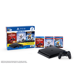 CONSOLA PLAY STATION PS4 1TB + 3 JUEGOS MEGA 15 - SONY