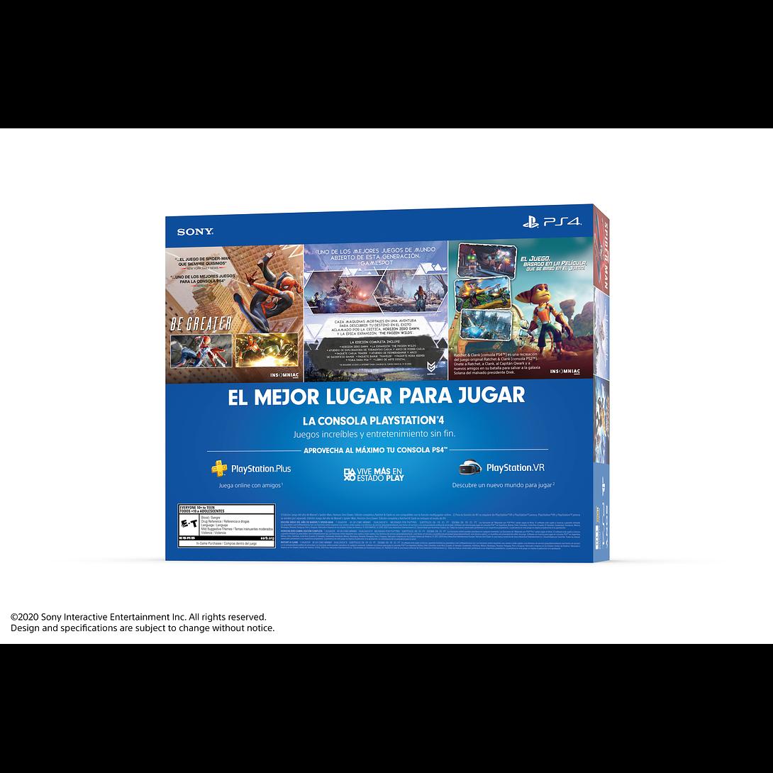 CONSOLA PLAY STATION PS4 1TB + 3 JUEGOS MEGA 15 - SONY