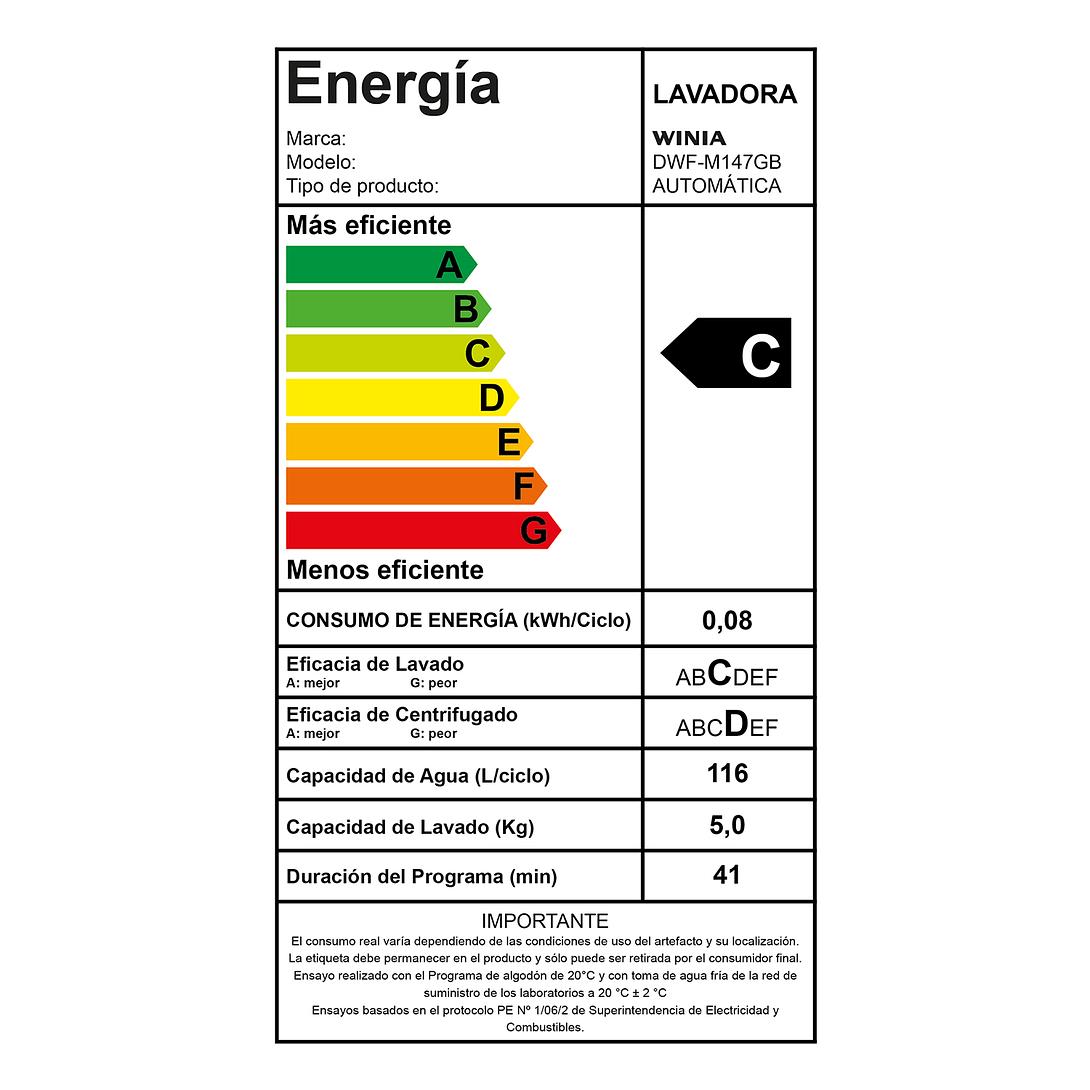 LAVADORA AUTOMATICA 14.5 KG DWF-M147GB WINIA