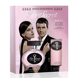 HER SECRET EDT 80 ML + BODY LOCION 100 ML ESTUCHE - ANTONIO BANDERAS
