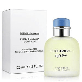 LIGHT BLUE HOMME EDT 125 ML TESTER (PROBADOR) SIN TAPA- DOLCE & GABBANA