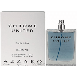 Chrome United EDT 100 ML Tester (Probador) Sin Tapa  - Azzaro