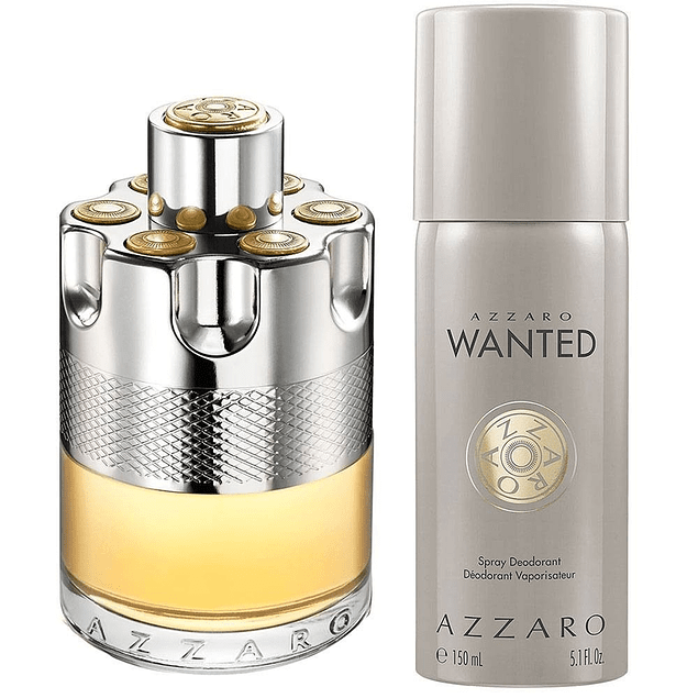 AZZARO WANTED EDT 100 ML + DEO 150 ML ESTUCHE - AZZARO
