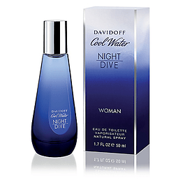 COOL WATER NIGHT DIVE WOMEN EDT 50 ML - DAVIDOFF