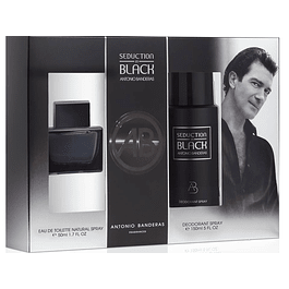 SEDUCTION IN BLACK EDT 50 ML + DEO 150 ML ESTUCHE - ANTONIO BANDERAS
