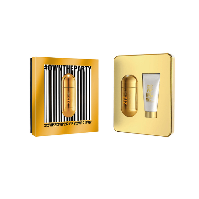 212 VIP EDP 50 ML + BODY LOCION 75 ML ESTUCHE - CAROLINA HERRERA