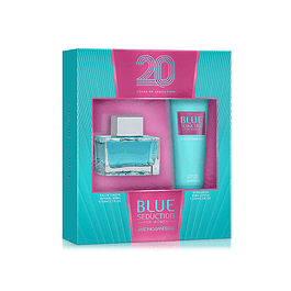 BLUE SEDUCTION WOMEN EDT 80 ML + BODY LOCION 75 ML ESTUCHE - ANTONIO BANDERAS