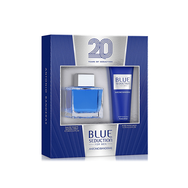 BLUE SEDUCTION MEN EDT 100 ML +  AFTER SHAVE 75 ML - ANTONIO BANDERAS