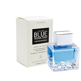 BLUE SEDUCTION FOR MEN EDT 100 ML TESTER (PROBADOR) SIN TAPA - ANTONIO BANDERAS