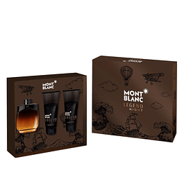 LEGEND NIGHT EDP 100 ML + BODY LOCION 100 ML + SHOWER GEL 100 ML ESTUCHE- MONT BLANCE