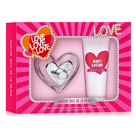 LOVE LOVE LOVE EDT 80 ML + BODY LOCION 75 ML ESTUCHE - AGATHA RUIZ DE LA PRADA