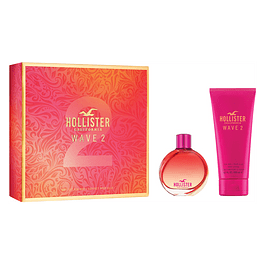 HOLLISTER WAVE 2 HER EDP 100 ML + SG 200 ML ESTUCHE