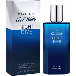 NIGHT DIVE COOL WATER EDT 75 ML- DAVID OFF UNIDAD