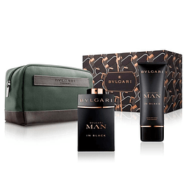 BVLGARI MAN IN BLACK EDP 100 ML + AFTER SHAVE 100 ML ESTUCHE - BVLGARI