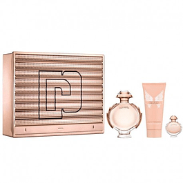 OLYMPEA EDP 80 ML + 6ML + BODY LOCION 100  ML ESTUCHE - PACO RABANNE