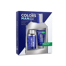 COLORS BLUE MAN EDT 60 ML + AFTER SHAVE  50 ML  - BENETTON