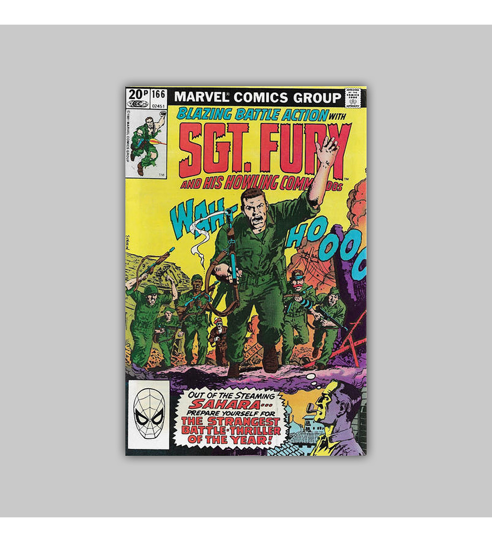 Sgt. Fury and His Howling Commandos 166 VF/NM (9.0) 1981