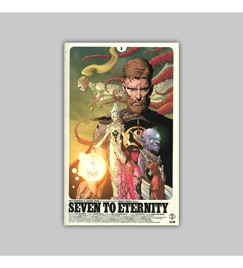Seven to Eternity 5 2nd printing 2017